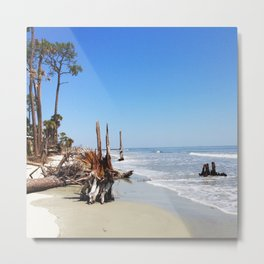 Beachy Metal Print