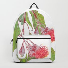 Flowering Silver Princess Eucalyptus Watercolour Backpack