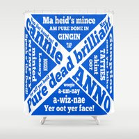 wiz khalifa Shower Curtains featuring Scottish slang and phrases by mailboxdisco