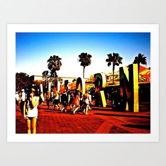 california adventuring Art Print