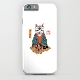 Neko Sushi Bar White iPhone Case