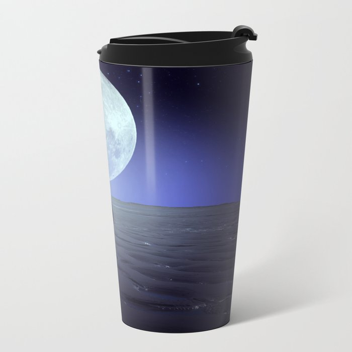 Moon alk Metal Travel Mug