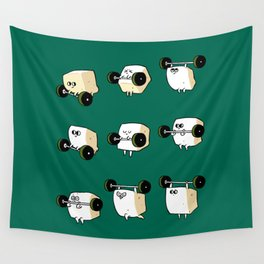 OLYMPIC LIFTING  Tofu Wall Tapestry