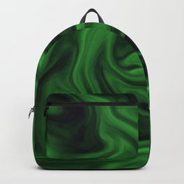 Black and green marble pattern Backpack