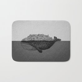 Whale City Bath Mat