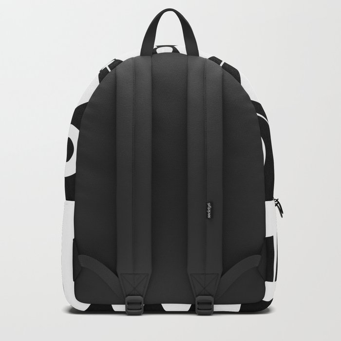 Scandinavian black and white abstract pattern . Backpack