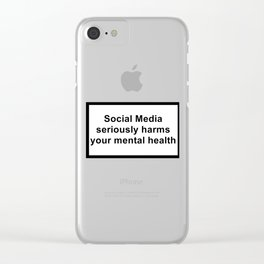 social media seriously harms your mental health Clear iPhone Case