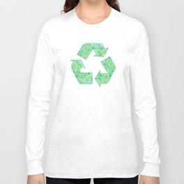 Green foliage watercolor Long Sleeve T-shirt
