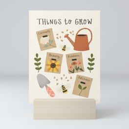 Things to Grow - Garden Seeds Mini Art Print