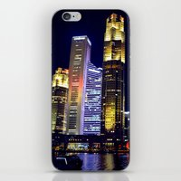 singapore iPhone & iPod Skins featuring Singapore Skyline by Mark Bagshaw Photography