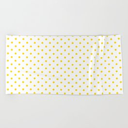 Dots (Gold/White) Beach Towel