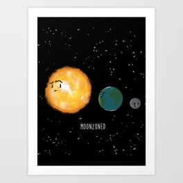 Moonzoned Art Print