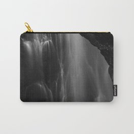 Black and white waterfall long exposure Carry-All Pouch
