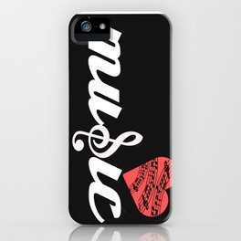 for the love of music iPhone Case