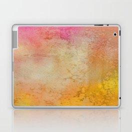 Abstract hand painted pink orange yellow grunge watercolor Laptop & iPad Skin