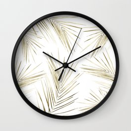 Tropical Leaves 7 Wall Clock