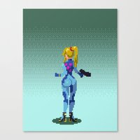 samus Canvas Prints featuring Samus by ansimuz