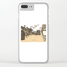 Victorian Frankwell Under Water, sepia Clear iPhone Case