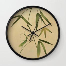 Mantis and Bamboo Wall Clock