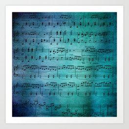 Painted Music Art Print