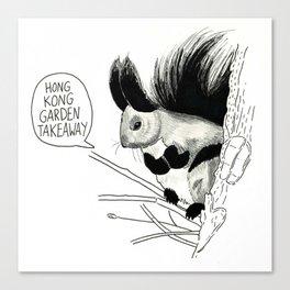 Goth Squirrel  Canvas Print