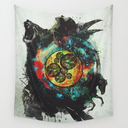 Circle of Life Surreal Study Wall Tapestry