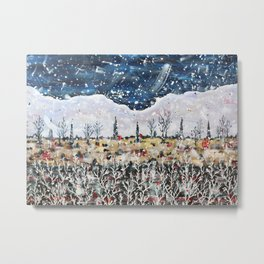 A Winter in Alberta Metal Print