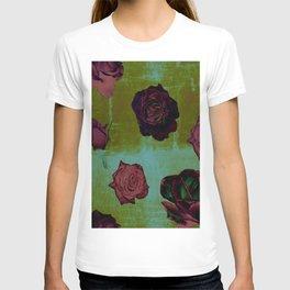 Crimson Vintage Rose T-shirt