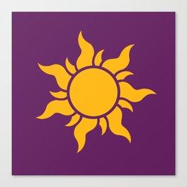 Tangled Rapunzel Sun Logo - Corona Symbol Canvas Print