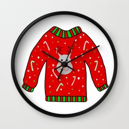 Ugly Christmas Sweater Wall Clock