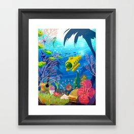 Summah Submersible Framed Art Print