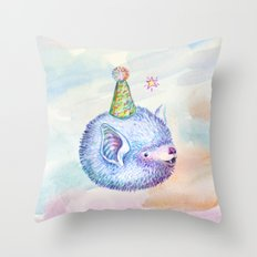 Party Hat Bat Throw Pillow