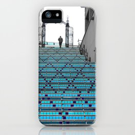 Mystery Man on the Blue Stairway to Heaven, Kansas City iPhone Case