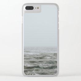 Prince Edward Island, Canada - Foggy Ocean Seascape Clear iPhone Case