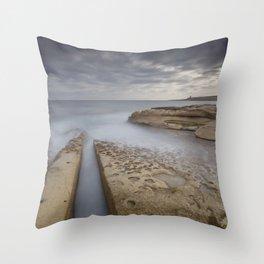 Salina, Malta Seascape Throw Pillow