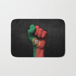 Portuguese Flag on a Raised Clenched Fist Bath Mat