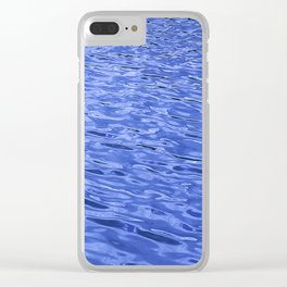 Rhythmic Blue Water Ripples In A Steady Wind Clear iPhone Case