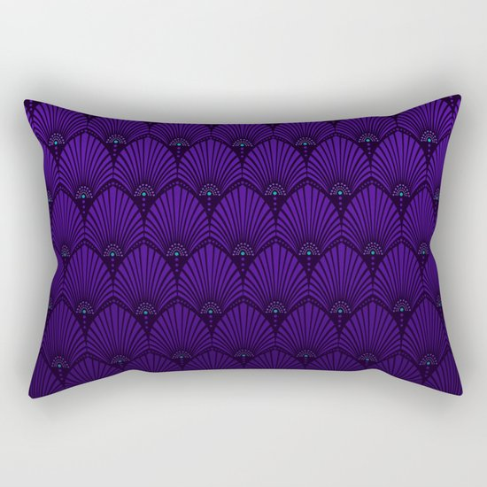 Variations on a Feather II - Raven Wing Rectangular Pillow