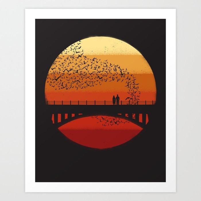 Into the Setting Sun Art Print
