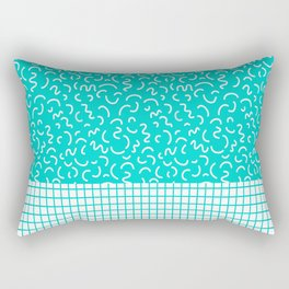 Hockney - Bright blue, memphis, 80s, 90s, swimming pool, summer turquoise design cell phone, phone  Rectangular Pillow