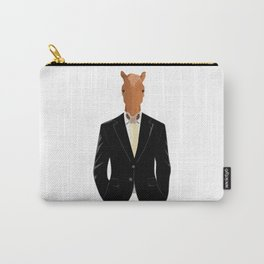 Horse in Suit Carry-All Pouch