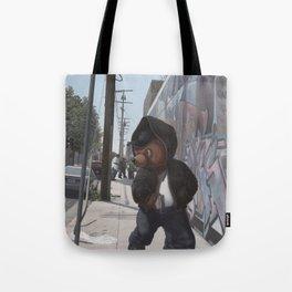Gangsta Teddy Tote Bag