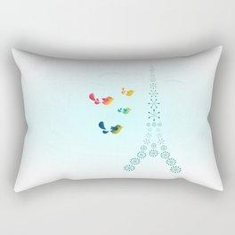 Bird Travellers - Paris Rectangular Pillow