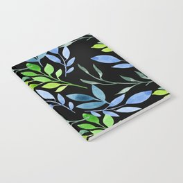 Blue and Green Leaves Notebook