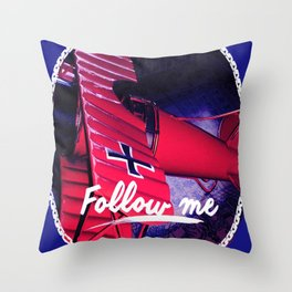 Follow me , Sigueme, Suis Moi, Vold Mic, Forge Mir Throw Pillow