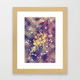 winter flower HOLIDAZE Framed Art Print