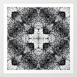 Pointillism Cross Graphic Art Print