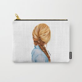 Blonde Fishtail Braid Girl Drawing  Carry-All Pouch