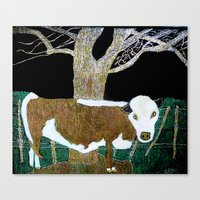 stripe Canvas Prints featuring stripe by Patricia Pye Creations