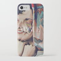 vogue iPhone & iPod Cases featuring Vogue by Mrs Araneae